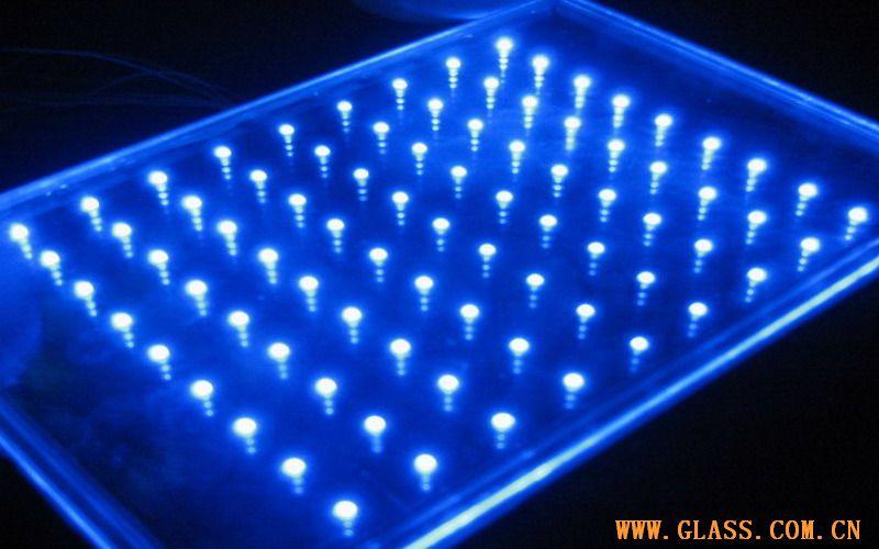 供应发光玻璃-LED淋浴房玻璃