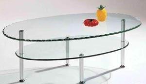 精致优雅的双层钢化玻璃餐桌
