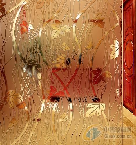 欧式凹蒙隔断艺术玻璃板材