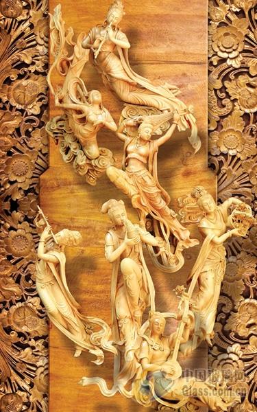 优质艺术雕刻玻璃 歌舞升平