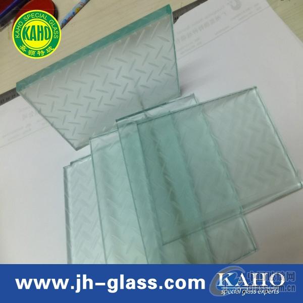 八字条纹地板防滑玻璃厂家