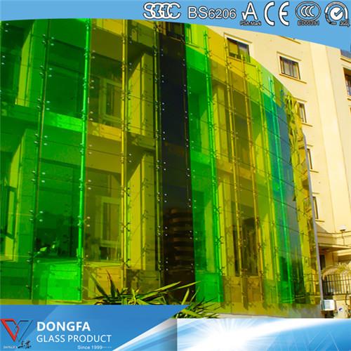 东莞东发供应-彩色夹胶玻璃