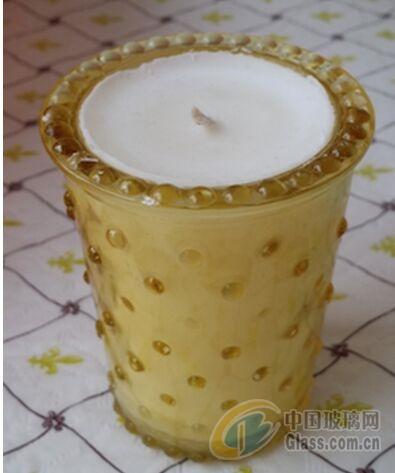 彩色玻璃莲花蜡烛台透明