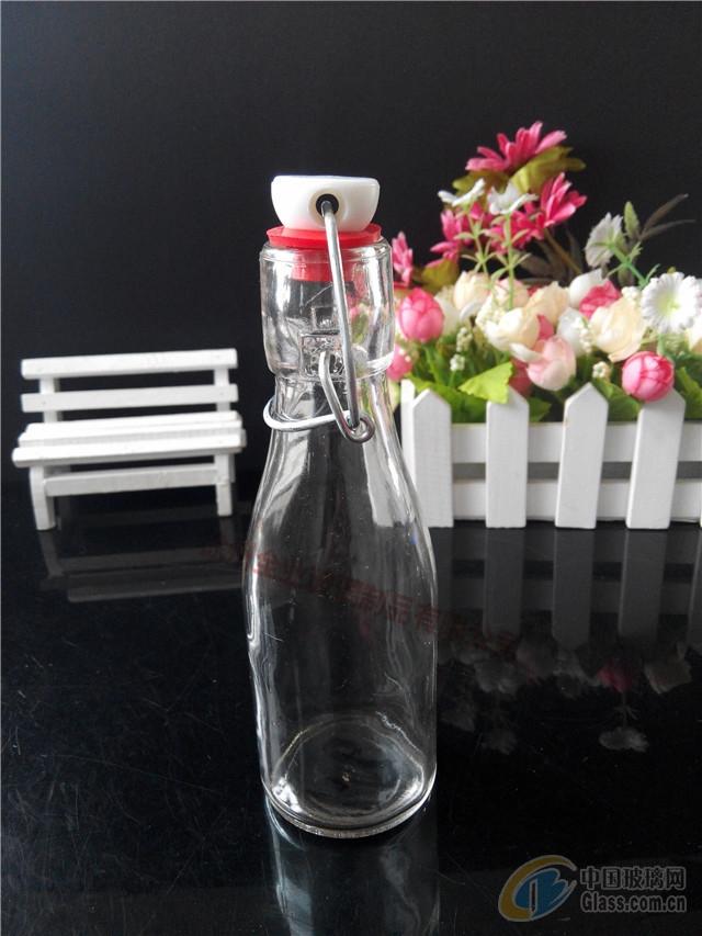 生产玻璃瓶圆形秋千盖酵素瓶