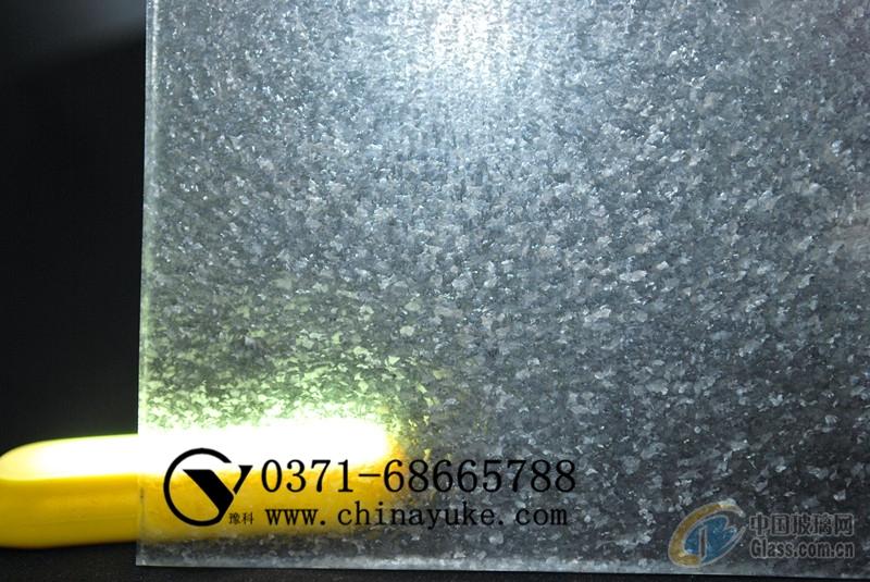 豫科新款雪花效果平板玻璃蒙砂粉