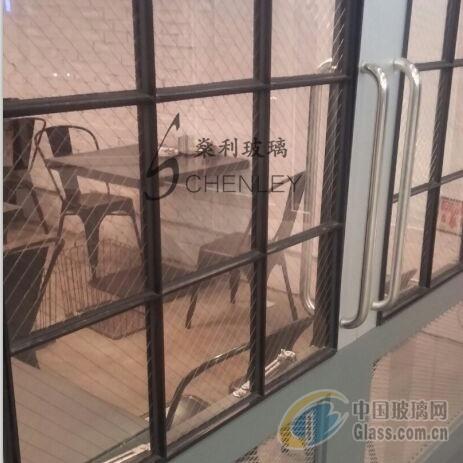 广州�隼�不锈钢铁丝玻璃