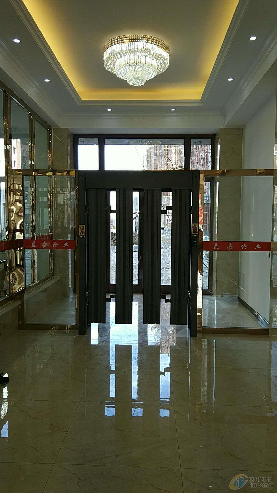 西安快速行人折叠自动门感应门安装