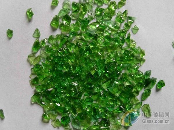兴胜矿产大量供应绿色玻璃碎 玻璃砂 玻璃珠