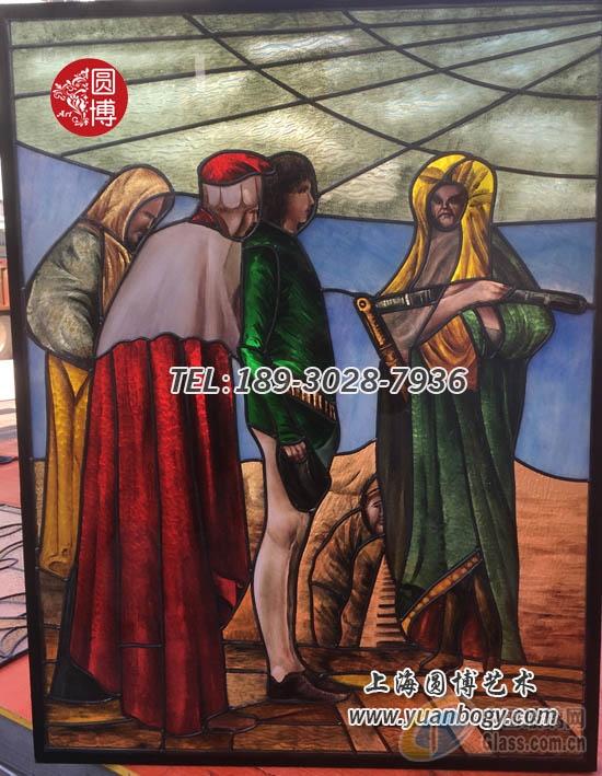 圆博玻璃专业定制教堂彩绘镶嵌玻璃教堂彩色镶嵌玻璃