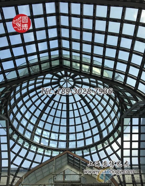 圆博玻璃彩色玻璃采光顶彩色玻璃阳光顶专业定制厂家