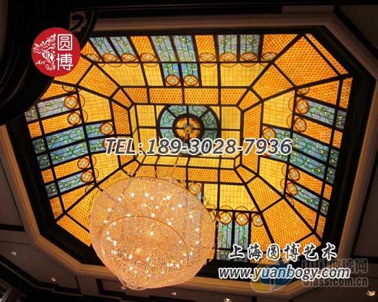圆博玻璃彩色玻璃穹顶彩绘玻璃穹顶专业穹顶生产厂家