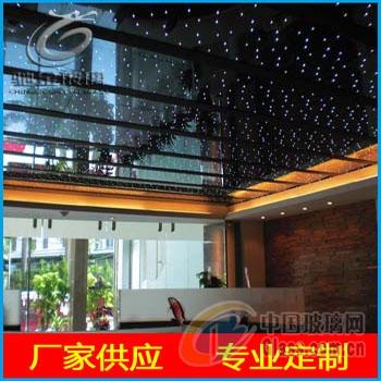驰金 LED发光玻璃 激光内雕发光玻璃 厂家供应