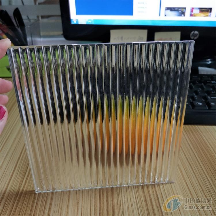 超白条纹玻璃 半圆形玻璃 条纹玻璃