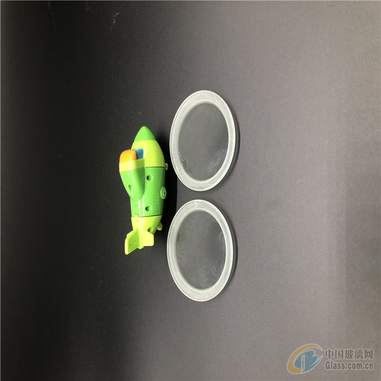 东莞旭鹏玻璃厂供应3mm超白灯具玻璃,圆形磨边灯具玻璃