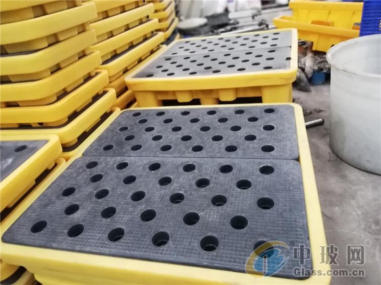 玻璃制品厂家机油桶托盘  1313油桶防渗漏托盘