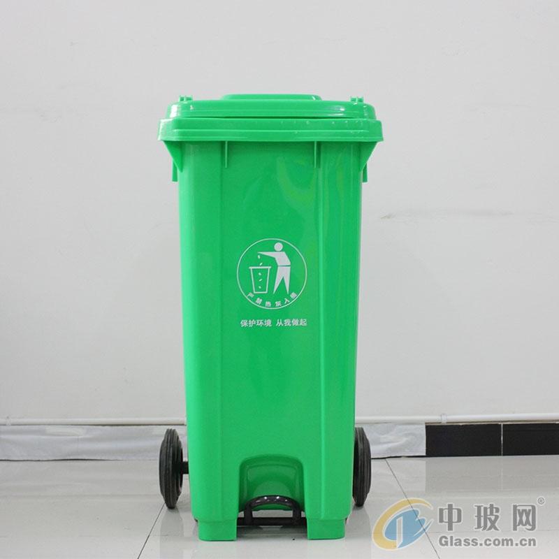 工厂车间垃圾桶  120L带轮脚踏式塑料垃圾桶