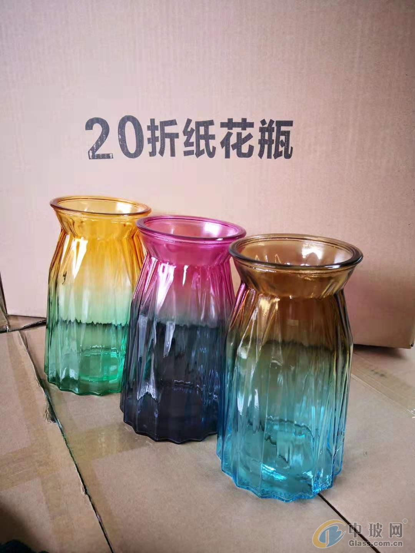 玻璃瓶厂家供应喷涂玻璃花瓶