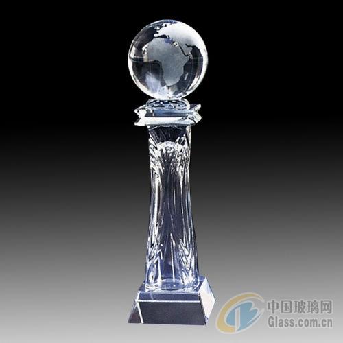水晶奖杯图片-玻璃图库-中国玻璃网