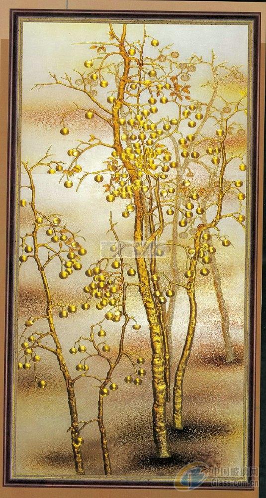 艺术发财树玻璃贴图;