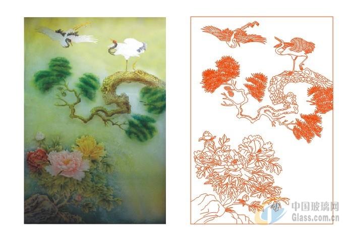 艺术玻璃花型囹�b_艺术玻璃图