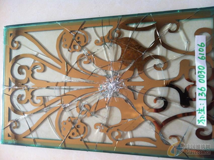 不锈钢雕花夹胶玻璃
