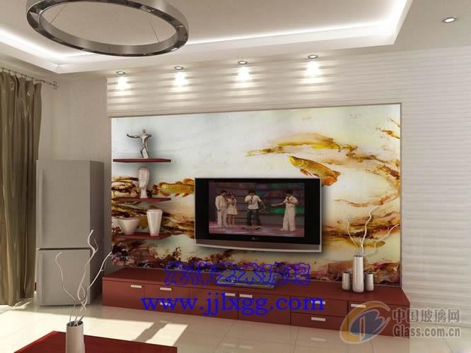 艺术玻璃沙发背景墙