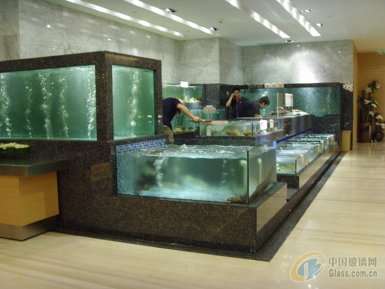 海鲜鱼池鱼缸图片-玻璃图库-中国玻璃网