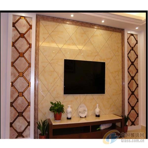 > 拼镜客厅电视背景墙 现代艺术装饰背景墙 专业定制