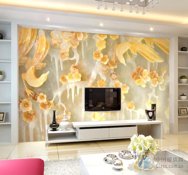 冰晶影视墙图片-玻璃图库-中国玻璃网