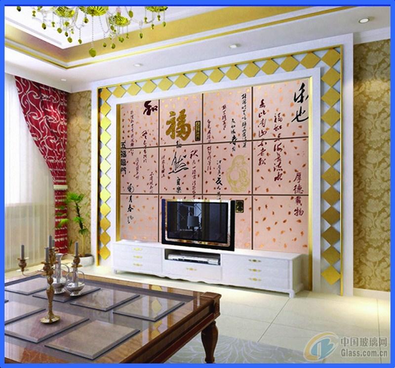 电视背景墙图片-玻璃图库-中国玻璃网
