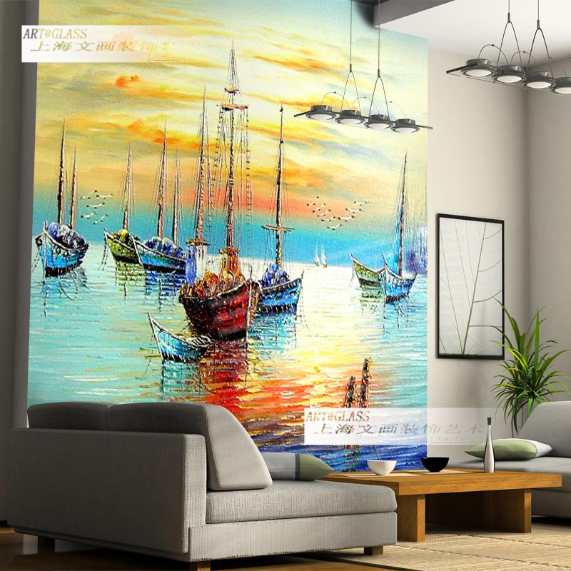 玻璃背景墙-上海文画装饰工程