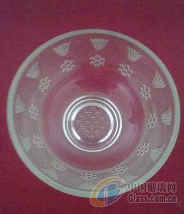 正品玻璃碗磨砂碗雕花碗面碗餐具