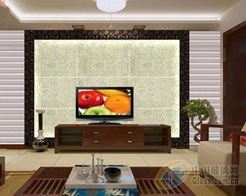 家居客厅艺术玻璃电视机背景墙颜色选择