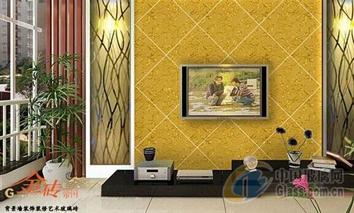 电视机艺术玻璃背景墙装饰装修案例二(图)-玻璃资讯