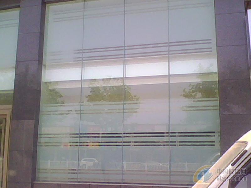 石家庄写字楼玻璃隔断磨砂贴膜