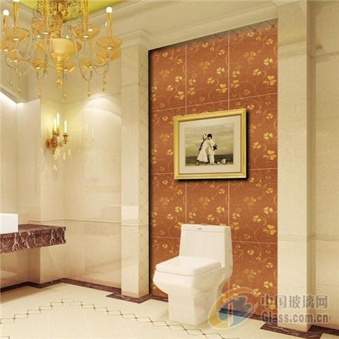 高档欧式洗手间浴室背景墙装饰镜砖