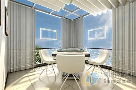 阳光房屋顶效果图:把阳光房作为会客的主要场所,根据自己的需要设计