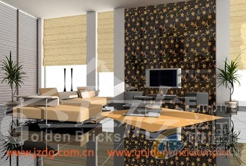 豪华家居客厅电视机背景墙装修装饰艺术砖