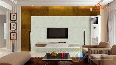 艺术玻璃装修时尚简约客厅电视背景墙
