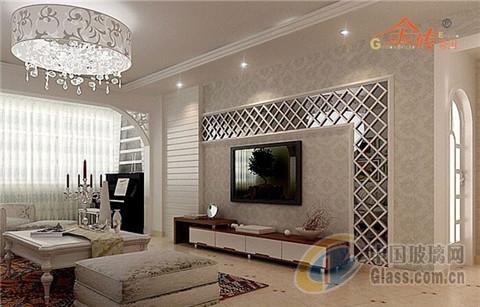 艺术玻璃电视机背景墙装修设计