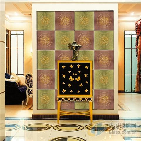 艺术玻璃装饰装修背景墙效果图欣赏