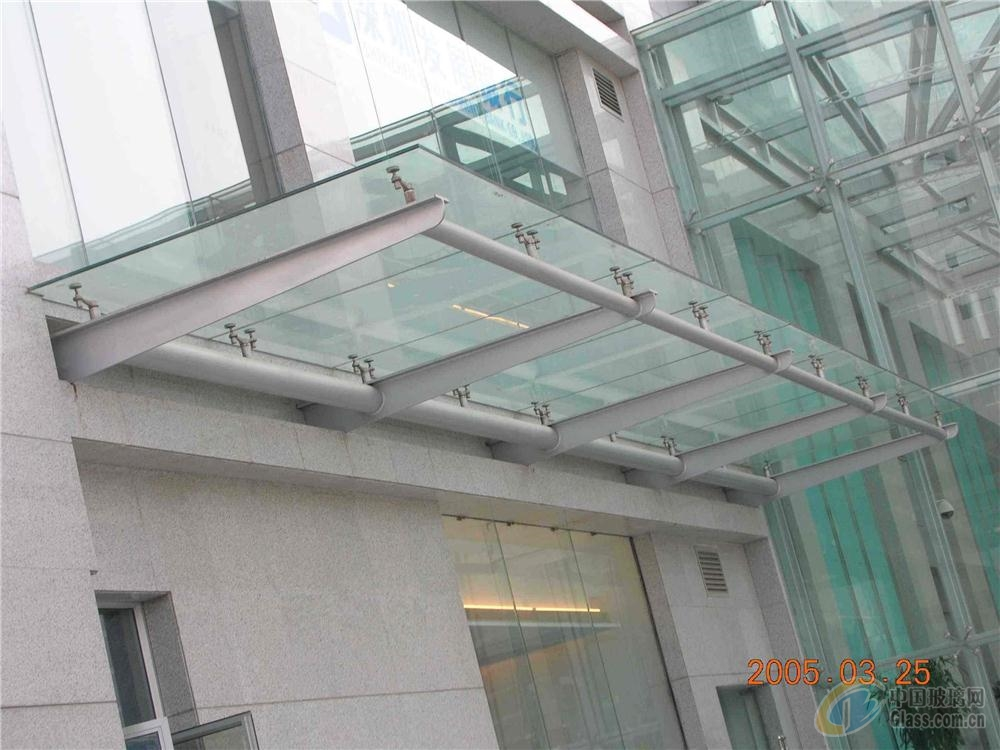 【东丽区制作安装】商铺,酒店,办公大楼玻璃雨棚