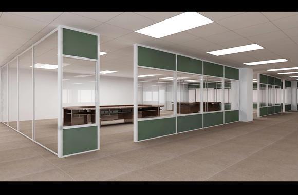 铝合金玻璃隔断,完美的办公室空间设计元素,隔断的最佳用途就是将