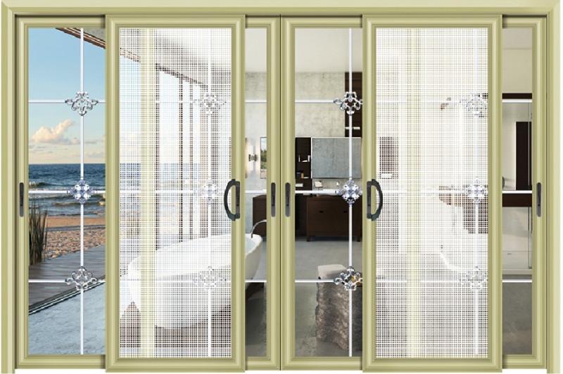 欧式厨房推拉门头圆型玻璃门图片
