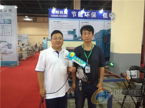 江苏玻璃网沙河展独家专访--中国华邦经典机视频酷玻璃跑图片