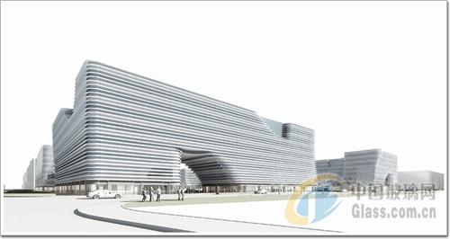 办公理念,其中风雨连廊的设计,精妙绝伦.集合了横向遮阳技术、可