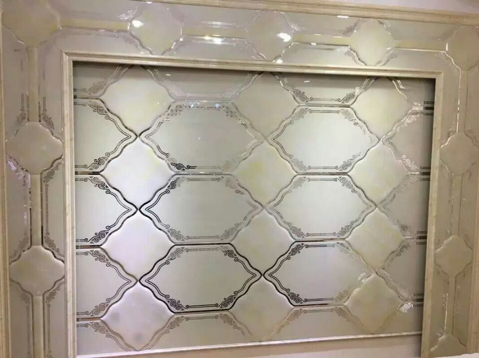 客厅拼镜电视墙效果图-玻璃拼镜-中国玻璃网