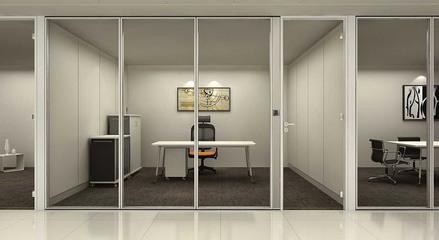 辦公室玻璃隔斷安裝特點與注意事項是什么?_重慶隔斷