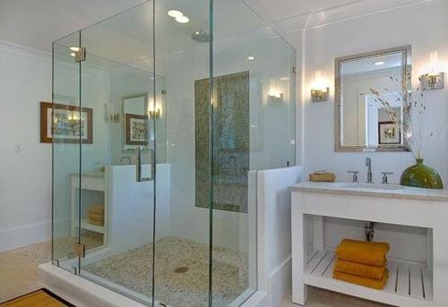 不锈钢卫生间玻璃隔断淋浴门