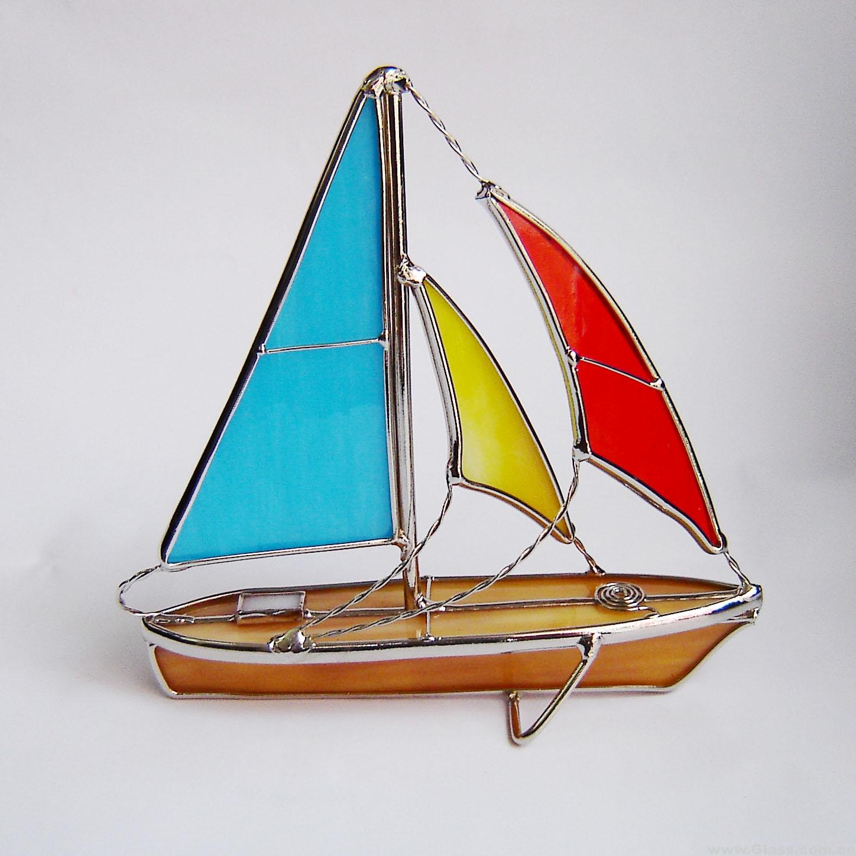 轮船简笔画彩色大全